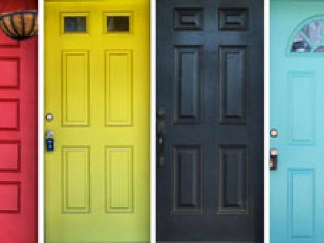 Warna pintu menggambarkan karakter rumah