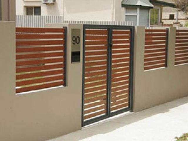 Contoh pagar dan rumah minimalis terbaru